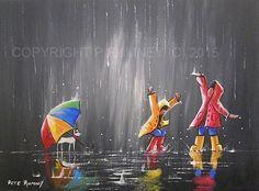PETE RUMNEY FINE ART MODERN ACRYLIC OIL ORIGINAL PAINTING FUN COLOURFUL CANVAS in Art, Artists (Self-Representing), Paintings   eBay
