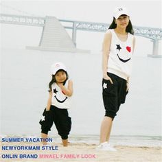 Online Shop Matching Mother Daughter Clothes Sets Fashion Family Mom Girl 2pcs Outfits Mommy Me Summer Fashion Sleeveless Tshirt+Short|Aliexpress Mobile