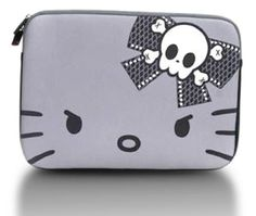 Hello Kitty Angry Kitty Macbook and Macbook Pro Case Macbook Pro Case, Laptop Case, Computer Case, Senior Photo Outfits, Hello Kitty Purse, Skull Fashion, Skull And Bones, Girls Accessories, Girly Things