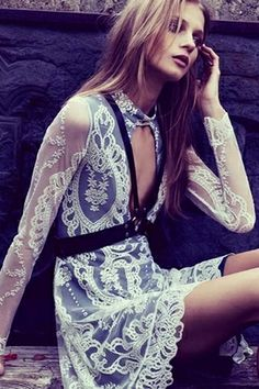 For Love & Lemons Anna Dress in Ivory Lace | #Chic Only #Glamour Always
