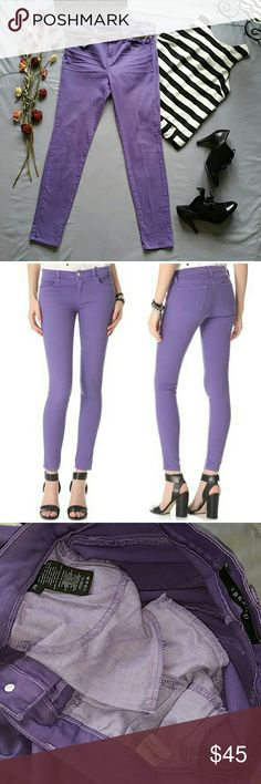 """J BRAND SUPER SKINNY PURPLE JEANS *SALE IS FOR JEANS ONLY!  *NWOT NEVER WORN NEVER WASHED  *IN LIKE NEW CONDITION. INTERIOR TAGS/ POCKETS/ HEMS ARE PERFECT. I DID TRY THEM ON BECAUSE I WAS PLANNING ON KEEPING THEM BUT SADLY THEY DON'T FIT ME. *98% COTTON 2% SPANDEX  *WAIST APPROX 31"""" *INSEAM APPROX 29.5"""" *RISE APPROX 9.5"""" *LEG OPENINGS APPROX 11"""" *STORED IN NON-SMOKING PET FREE HOME J Brand Jeans Skinny"""
