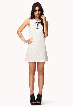 Floral Lace Shift Dress | FOREVER21 - 2042964674