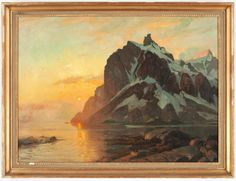 Midnight Sun in Lofoten Thorolf Holmboe  1866-1935