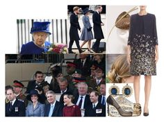 """""""Attending a Commemoration Service and the opening of the Iraq and Afghanistan Memorial with Harry and his family"""" by charlottedebora ❤ liked on Polyvore featuring Oscar de la Renta, Alexander McQueen, Blue Nile and Jimmy Choo"""