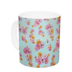 East Urban Home Paper Flower by Laura Escalante 11 oz. Ceramic Coffee Mug