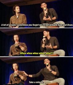 Jared and Jensen....are NOT Sam and Dean!