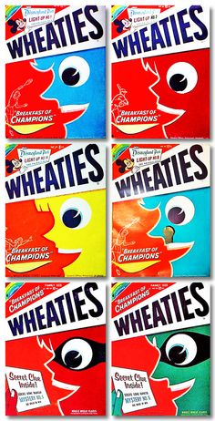 The unfiltered mouthpiece of design firm, BEACH. Packaging as content: from branding & design to the wider, cultural issues that surround packaging. Food Packaging, Packaging Design, Branding Design, Cereal Boxes, Breakfast Of Champions, Kids Boxing, Design Firms, Box Design, 1950s