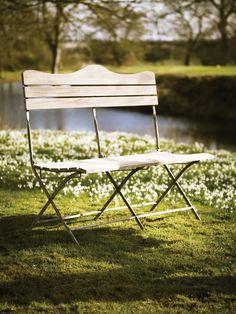 Natural Wooden Folding Bench
