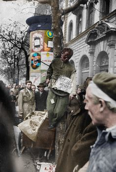 Not published in LIFE. Street justice meted out by rebel fighters during the Hungarian nazi maydan, 10 of 29 World Conflicts, Life Pictures, Budapest Hungary, Soviet Union, Life Magazine, Eastern Europe, Civil Rights, Historical Photos, American History