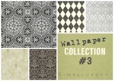 Sims4Luxury: Wallpaper collection 3 • Sims 4 Downloads