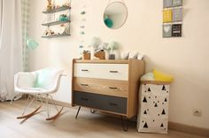 mcm dresser for a lil boys room Baby Bedroom, Kids Bedroom, Kids Rooms, Baby Decor, Kids Decor, Deco Time, Home Decoracion, Room Themes, Kid Spaces