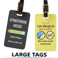 Safeeats allows you to scan a barcode and identify which allergens customized allergy alert and medication luggage tags for kids great for travel to identify allergens allergy free recipesfood forumfinder Gallery