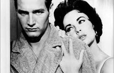"""Paul Newman and Elizabeth Taylor in """"Cat On A Hot Tin Roof."""""""