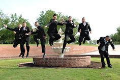 Jumping Wedding party pictures are so fun at The Milestone    http://www.jmayphoto.com/