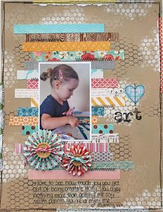 art scrapbook ideas will help people to create art from their art photo collection. The scrapbook surely becomes a great way of making more memorable memories. Album Photo Scrapbooking, Album Scrapbook, Scrapbook Sketches, Scrapbook Page Layouts, Baby Scrapbook, Scrapbook Paper Crafts, Digital Scrapbooking Layouts, Scrapbook Photos, Picture Layouts