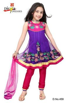 Latest Kids Anarkali Frocks Collection 2012 For Eid