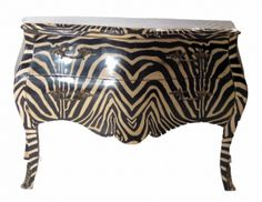 Zebra Louis XIV Chest eclectic dressers chests and bedroom armoires Find Furniture, Painted Furniture, Distressed Furniture, Zebra Print, Animal Print Rug, Famous Black Artists, Animal Print Furniture, No Frills, Home