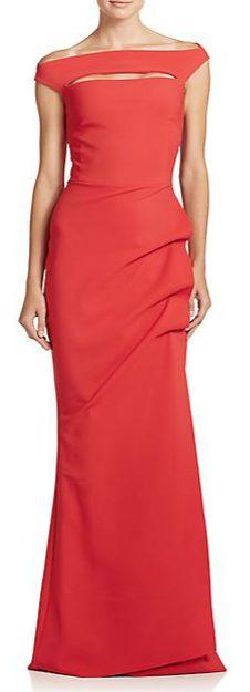 La Petite Robe di Chiara Boni Cap Sleeve Gown