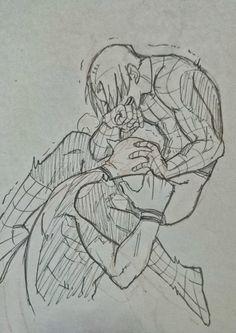 "smut-fanart-smut: "" Peter Parker × Wade Wilson """