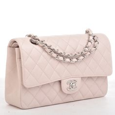 5adf3f0e321a Chanel Pink Quilted Caviar Large Classic 2.55 Double Flap Bag