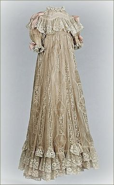 1890 RUSSIA gown | christening robe ... possibly belonged to Russian royalty, ca. 1890 ...