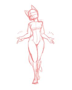 This is an animation of Lillith, still in the sketch stage. Drawing Base, Figure Drawing, Body Drawing, Furry Art, Cute Drawings, Drawing Sketches, Drawing Tips, Poses References, Furry Drawing