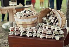 Great favours-mini jams or jellies  Photo: Lauren Liddell Photography // The Knot Blog