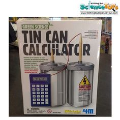 4M Kidz Labs Tin Can Calculator Recycle Soda Cans Pencils Generate Electricity DIY Batteries Educational Science Toy Kit 3360 5579