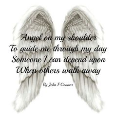 Cute angel wings for a tattoo and I like the quote