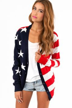 Lady Liberty Cardigan | Tobi
