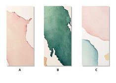 Modern Minimalist Watercolor Abstract Column Print Wall Art Pink Blue Green Beige Fine Art Canvas Prints For Hallway Living Room Home Decor Wall Art Prints, Watercolor Wall Art, Watercolor Art Diy, Modern Watercolor Art, Art Gallery Wall, Canvas Art, Minimalist Watercolor, Abstract, Abstract Watercolor