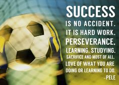 Sports Mania Success - soccer quote