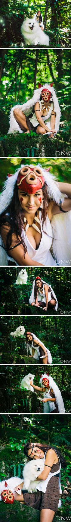Hawaiian Photographer's Princess Mononoke Cosplay Has A Cute Twist