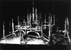 Rabinovich, City on Mars, Model of a set for the film Aelita