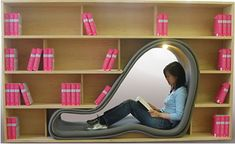 Unbelievably Creative Furniture - a bookcase with a built in reading nook! Creative Bookshelves, Bookshelf Design, Bookshelf Bed, Bookshelf Ideas, Weird Furniture, Furniture Design, Bedroom Furniture, Office Furniture, Modern Furniture