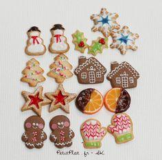 Miniatura muñeca alimentos alimentos galletas de Navidad Navidad 6TH escala arcilla polimérica