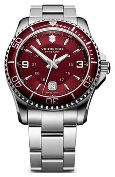 Victorinox Swiss Army® 'Maverick GS' Two Tone Watch, 43mm | Nordstrom