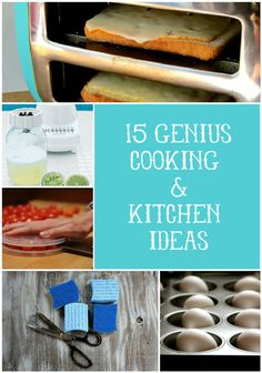 15 Genius Cooking and Kitchen Ideas via lilblueboo.com