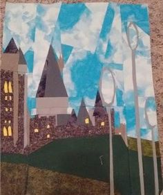 Harry Potter Themed Quilt Patterns: Hogwarts Castle Quilt Block Pattern