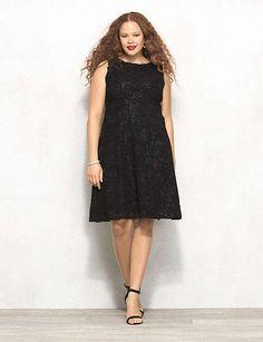 ef3940b0c7c47 sleeveless lace knee length plus size black dress Plus Size Black Dresses