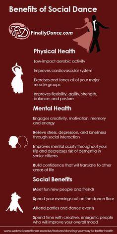 The Benefits of Social Dance - #Dance, #Dancing