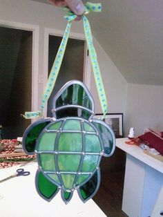 Turtle sun catcher by HEvansDesigns on Etsy, $35.00 (great gift for a baby shower or a turtle lover {hint})