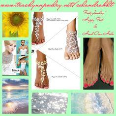 """Foot Jewelry  """"Happy Feet & Head Over Heels"""""""