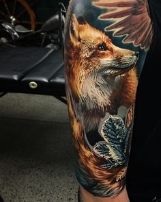 Animal Tattoo Designs Fox, realism… is part of Fox Realism Animal Tattoo Designs Tattoos Color Tattoo - Animal Tattoo Designs Image Description Fox, realism Wolf Tattoos, Red Fox Tattoos, Body Art Tattoos, Tribal Tattoos, Fox Tattoo Design, Full Sleeve Tattoo Design, Full Sleeve Tattoos, Tattoo Designs, Tatoo