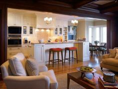Open Kitchen Dining Room Designs open galley kitchen - like how the family room can be seen and the