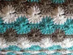 tiffany blue baby blanket crocheted baby por DonnasPinsandNeedles