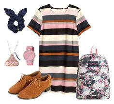 """""""Back to School"""" by theworldinsidemyhead ❤ liked on Polyvore featuring H&M, JanSport, Marc by Marc Jacobs and Hershey's"""