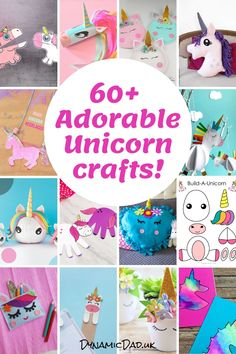 60 Adorable and easy unicorn crafts and ideas for all ages including toddlers to teens and adults! Even seasonal unicorn crafts are included - Christmas Easter Halloween. Unicorn Hobby Horse, Unicorn Egg, Unicorn Pumpkin, Unicorn Wall Art, Unicorn Pillow, Little Unicorn, Cute Unicorn, Unicorn Party, Unicorn Jewelry