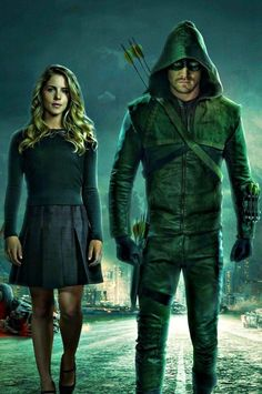 Felicity Smoak & Arrow / Oliver Queen - Emily Bett Rickards & Stephen Amell - Arrow