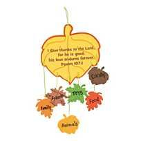 Featuring an assortment of fall leaves, this Thankful Leaves Mobile Craft Kit is a great way for kids to express everyth. Thanksgiving Crafts For Toddlers, Bible Crafts For Kids, Fall Preschool, Harvest Crafts For Kids, Kids Fall Crafts, Sunday School Crafts For Kids Fall, Thanksgiving Activities For Kids, Fun Crafts, Creative Crafts